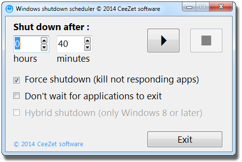 Windows shutdown scheduler 1